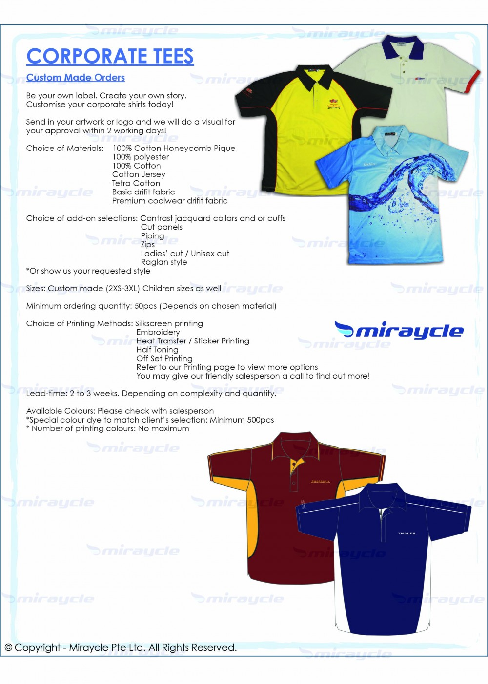 Corporate Tees Brochure
