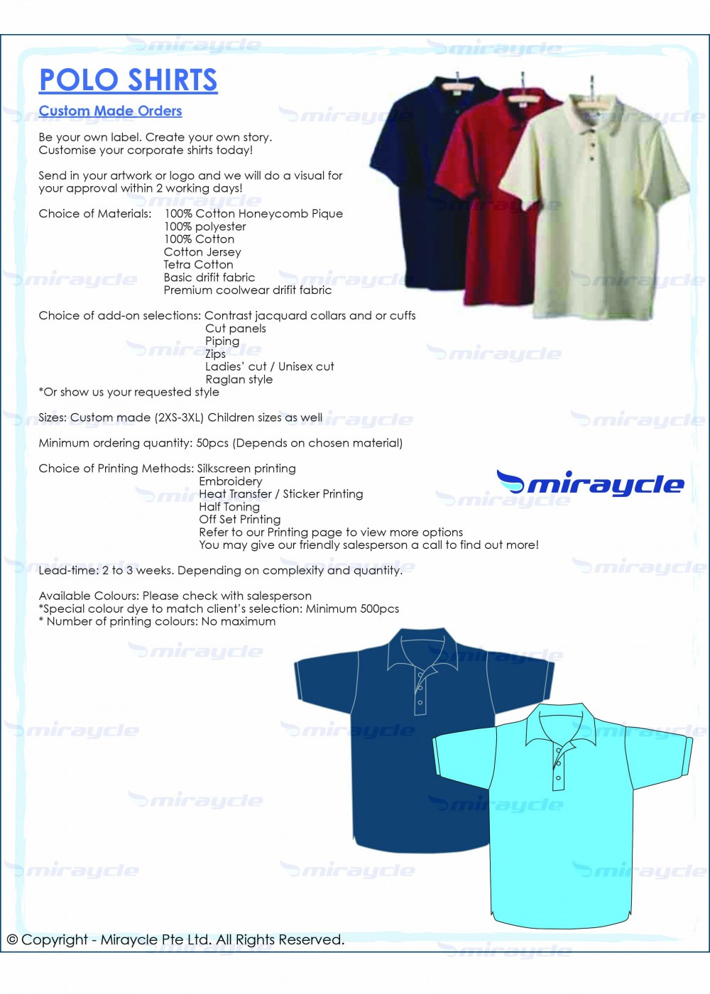 Polo Shirts Brochure