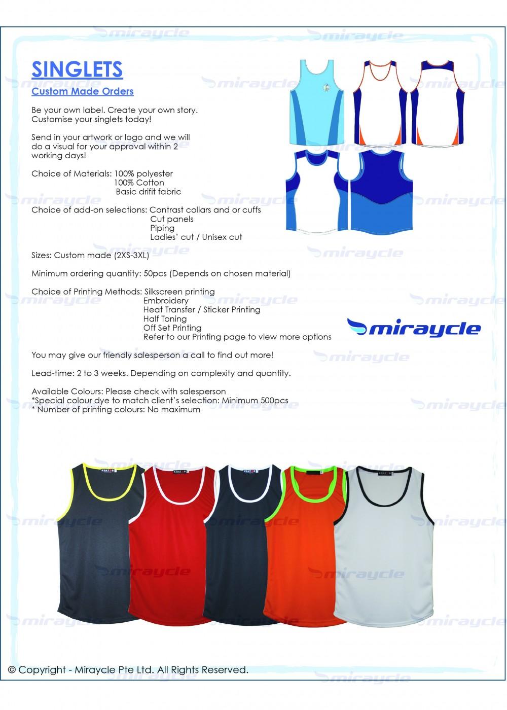 Singlets Brochure
