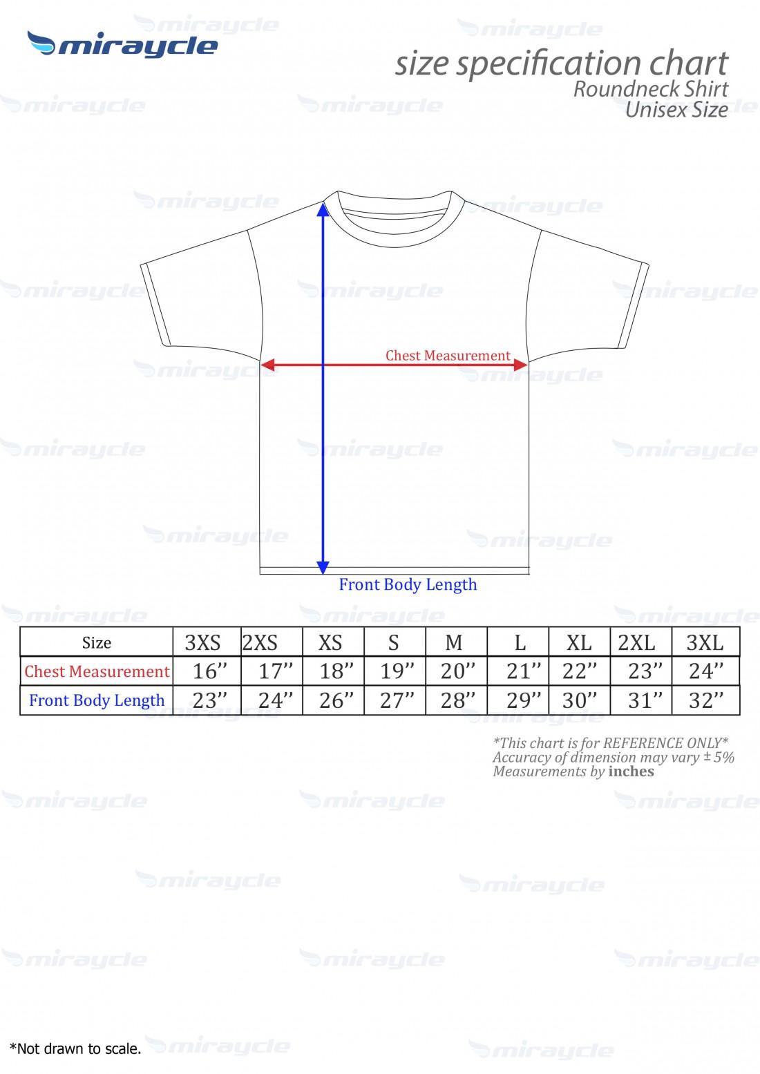 Unisex Roundneck Size Chart