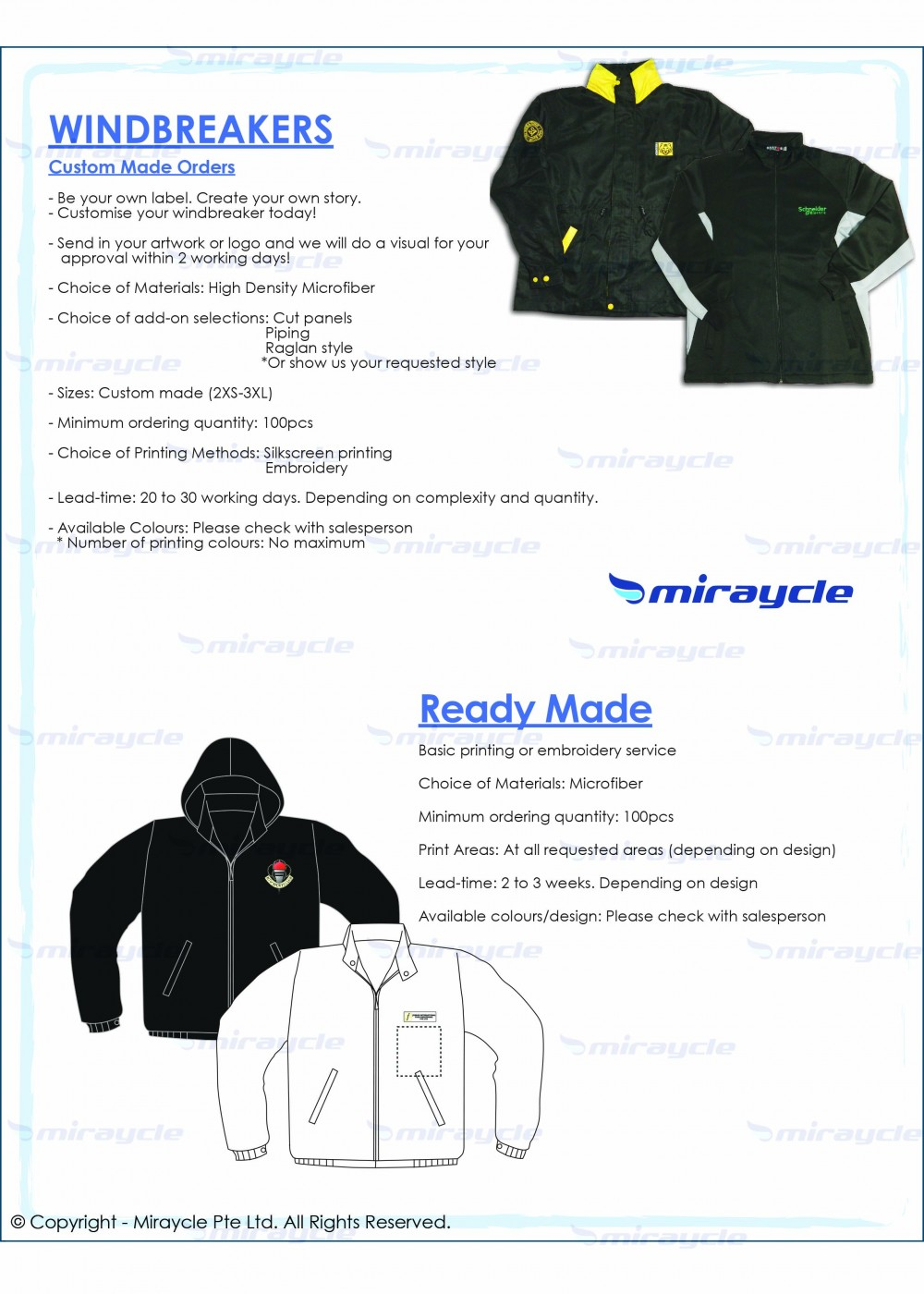 Windbreakers Brochure